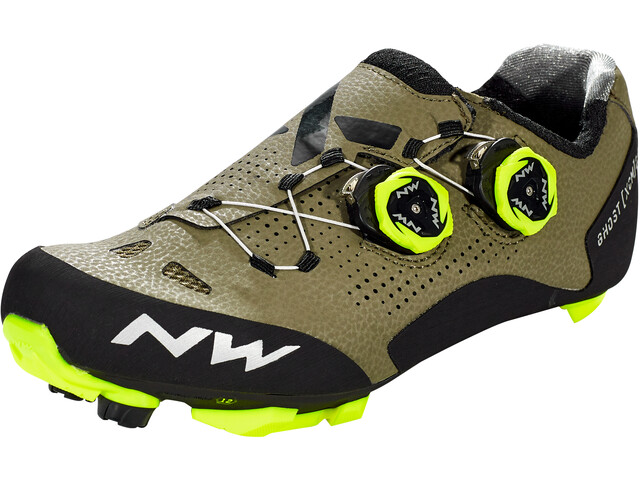 Northwave Ghost XCM 2 Chaussures Homme, forest/yellow fluo